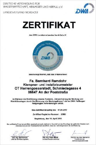 Homepage der Fa. Bernhard Ramdohr - Heizung - Sanitär - Solar